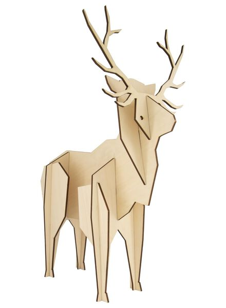 Holz-Hirsch, 50 x 15 x 50 cm - 25103058 - HEMA