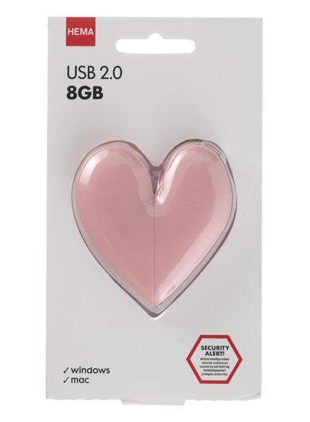 clé USB 8 Go cœur - 39520026 - HEMA