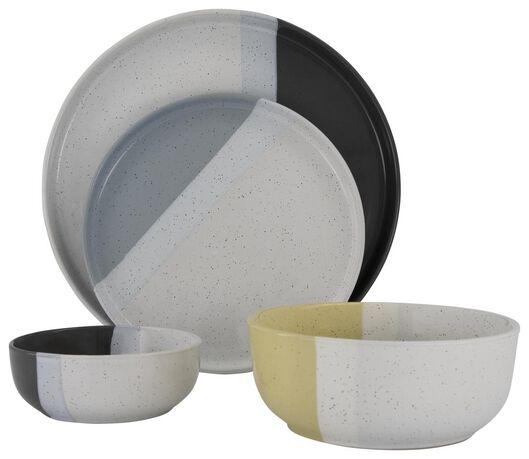 petite assiette - 20 cm - Cordoba - anthracite - 9602125 - HEMA