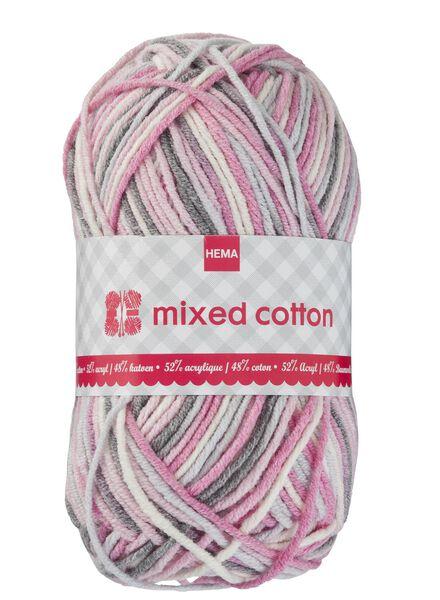 Strickgarn Mixed Cotton – rosa/weiß/grau Mixed Cotton bunt - 1400157 - HEMA