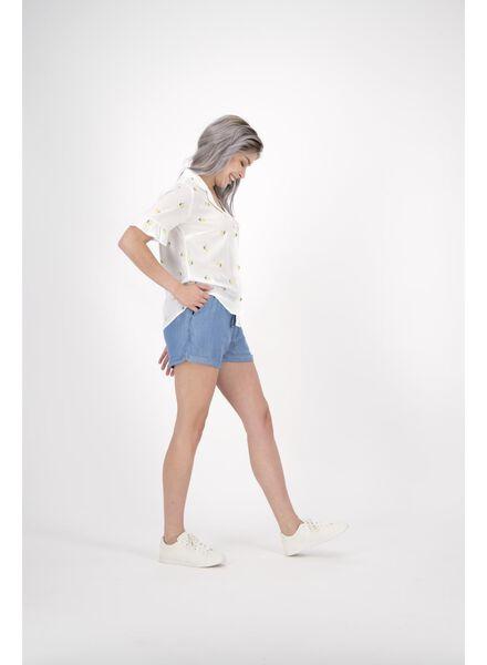 Damen-Shorts hellblau hellblau - 1000013600 - HEMA