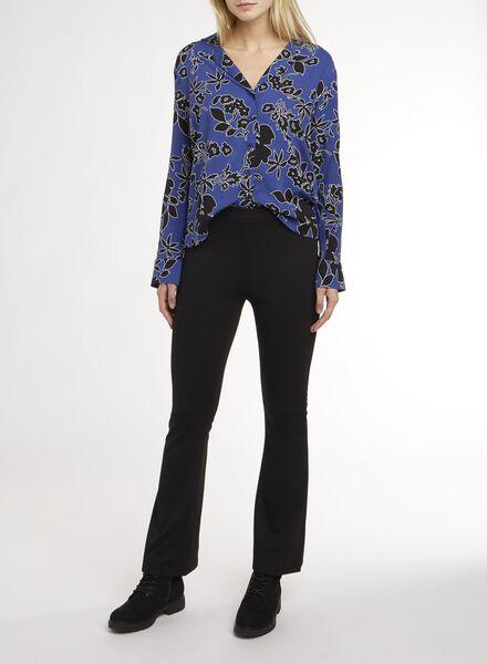 Damen-Bluse blau blau - 1000011052 - HEMA