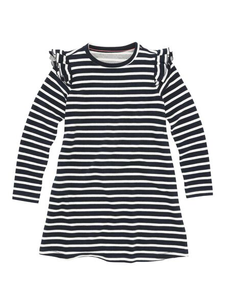 children's dress black/white black/white - 1000005888 - hema