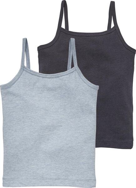 2-pack children's vests dark blue dark blue - 1000017997 - hema
