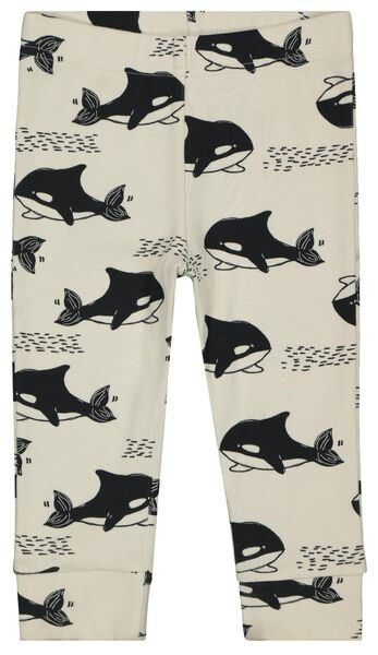 Baby-Pyjama, gerippt, Orkas schwarz/weiß schwarz/weiß - 1000022870 - HEMA