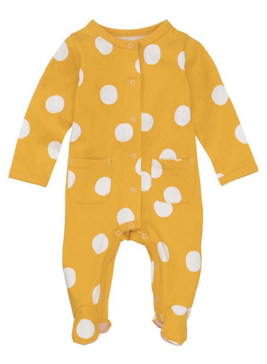 57b604757f3 newborn baby jumpsuit geel - HEMA