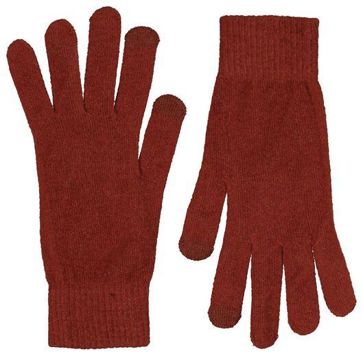 women's gloves touch screen cognac cognac - 1000020315 - hema