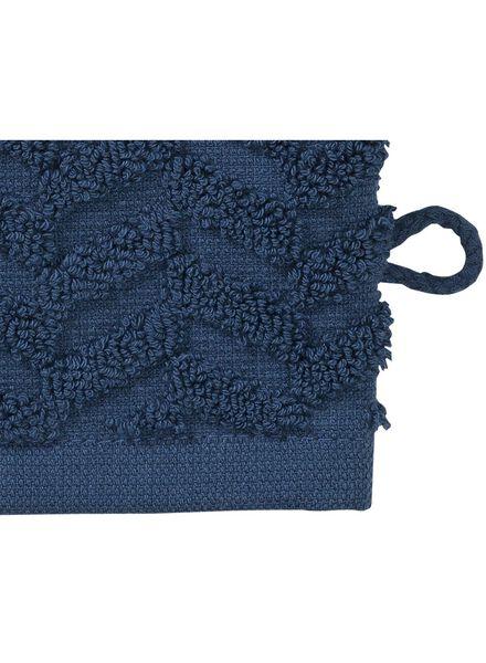 wash mitt - heavy quality - denim blue zigzag dark blue wash mitt - 5200067 - hema