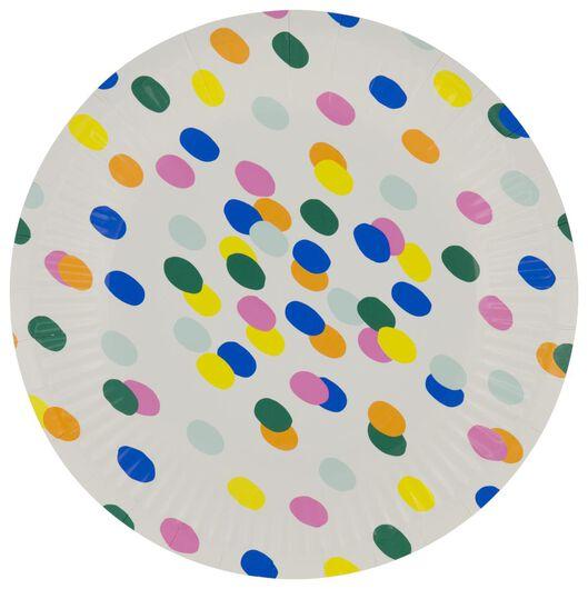gebaksbordjes karton Ø17.5cm confetti - 8 stuks - 14200557 - HEMA