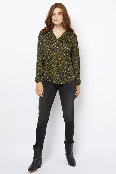 Damen-Shirt, recycelt olivgrün olivgrün - 1000021282 - HEMA