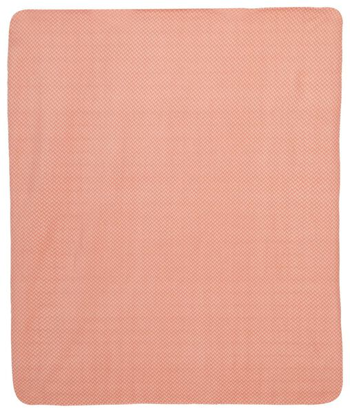 couverture polaire 130x150 zigzag terracotta - 7321010 - HEMA