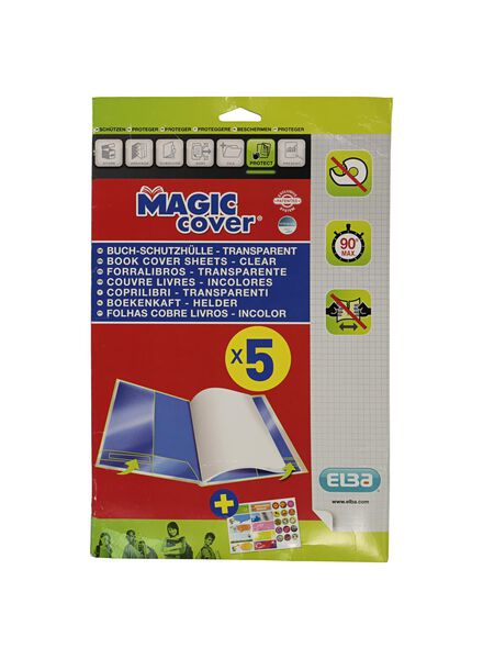 5er-Pack Buch-Schutzhüllen Magic Cover Elba - 14900435 - HEMA