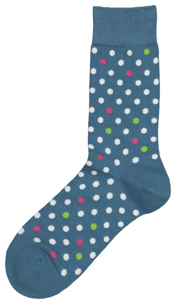 Herren-Socken, Punkte blau blau - 1000022595 - HEMA