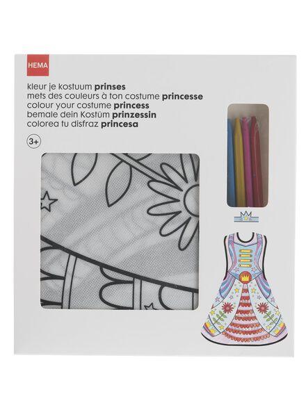 déguisement à colorier princesse - 15910085 - HEMA