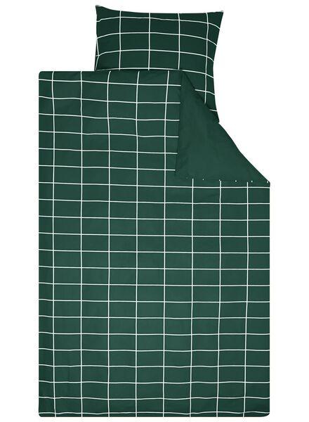 duvet cover - cotton - chequered green green - 1000016599 - hema