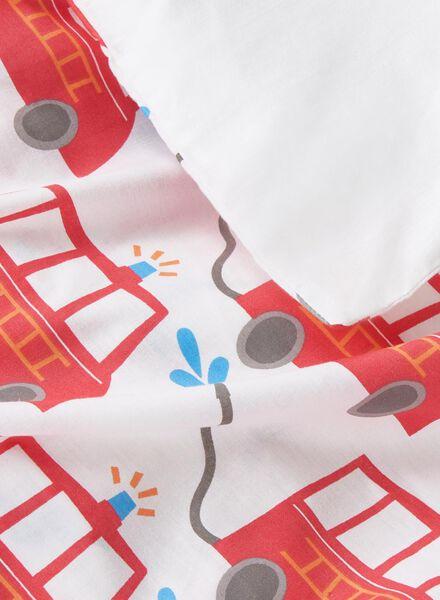 infants duvet cover - soft cotton - 120x150 cm - white fire engine - 5750099 - hema