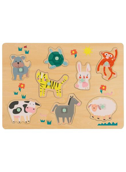puzzle en bois animaux - 15190256 - HEMA