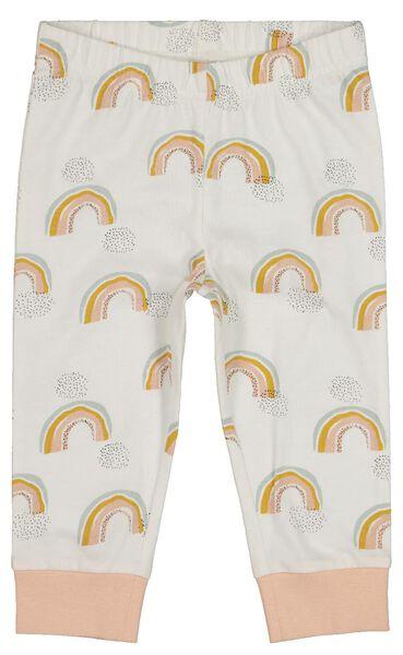 2-pack baby pyjamas rainbow light pink light pink - 1000017777 - hema