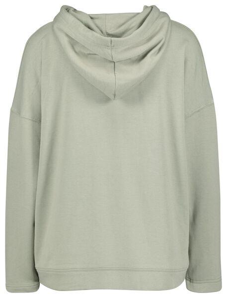 women's hooded sweater light green light green - 1000022533 - hema