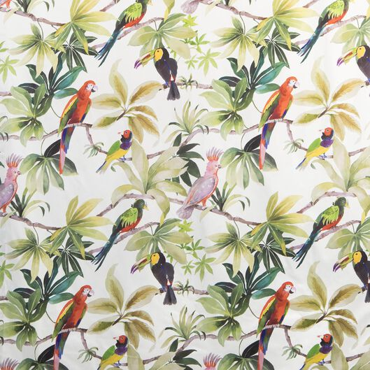 rideau prêt à poser avec anneaux 270x140 perroquet - 7632135 - HEMA