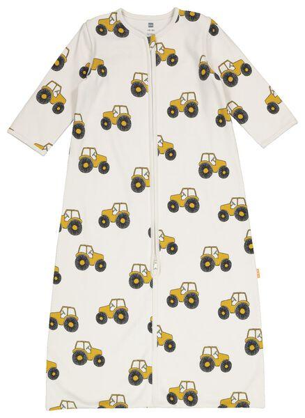 baby sleeping bag non-padded - zip sleeves - tractor white white - 1000018320 - hema