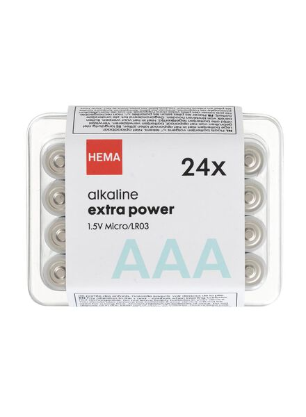 24-pack AAA batteries - 41290260 - hema