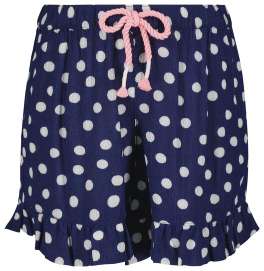 Kinder-Shorts, Punkte dunkelblau 146/152 - 30895949 - HEMA