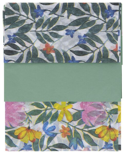 3 sheets tissue paper 70x50 flowers - 14700465 - hema