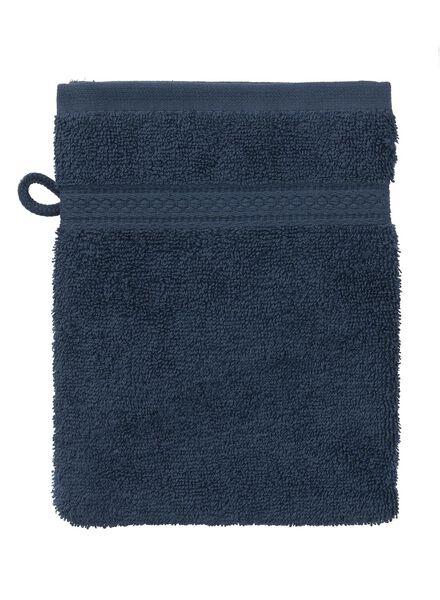 gant de toilette-qualité épaisse-denim uni denim gant de toilette - 5240178 - HEMA