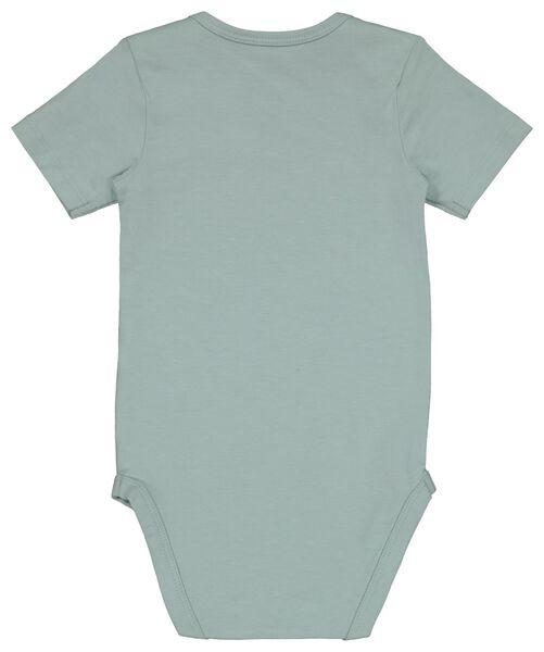 Baby-Body, elastische Baumwolle blau blau - 1000022893 - HEMA