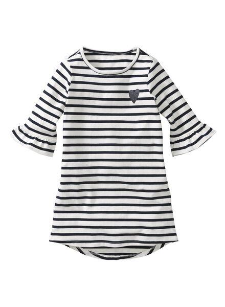 children's dress black/white black/white - 1000006169 - hema
