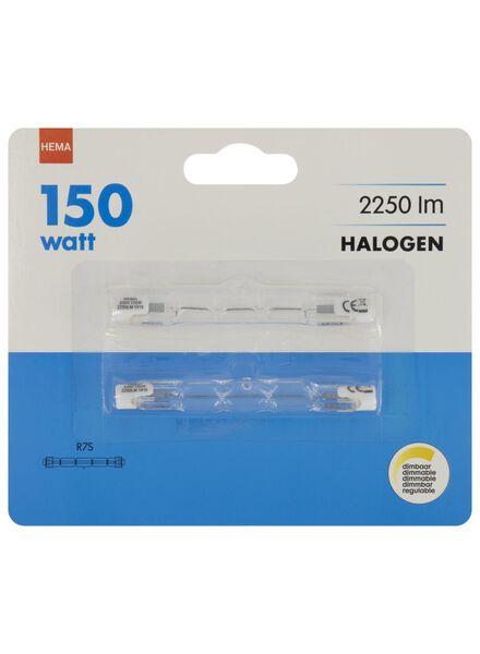 2 Halogen-Stablampen, 150W, 2250Lumen, klar - 20020051 - HEMA
