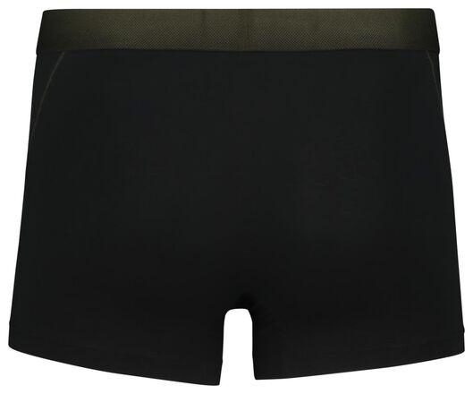 2-pack men's boxer shorts short real lasting cotton black black - 1000018784 - hema