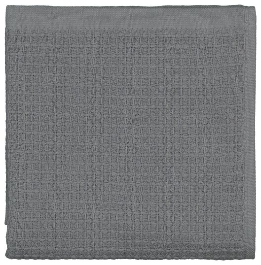 kitchen towel - 50 x 50 - cotton honeycomb grey - 5490043 - hema