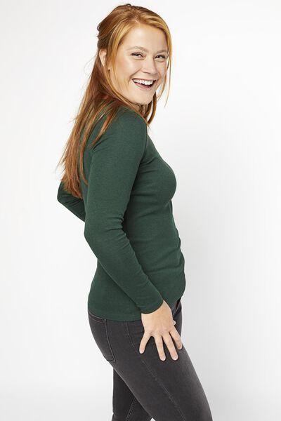 Damen-Shirt, U-Boot-Ausschnitt dunkelgrün dunkelgrün - 1000021153 - HEMA
