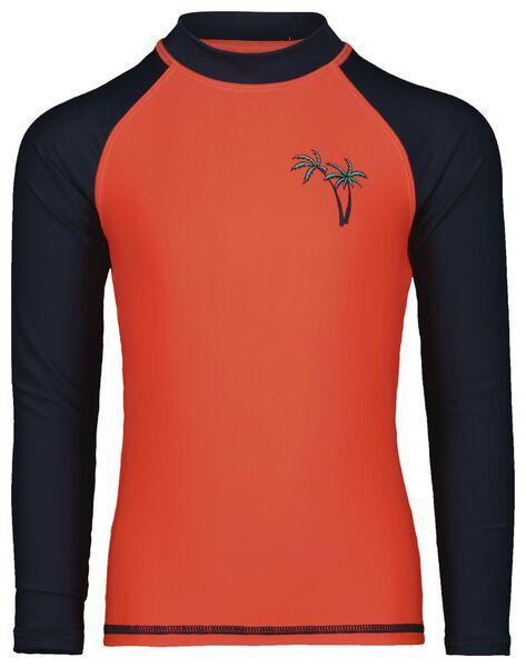 children's swim shirt with UPF 50+ coral coral - 1000023851 - hema