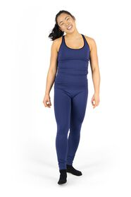 women's body-shaping sports leggings dark blue dark blue - 1000017386 - hema
