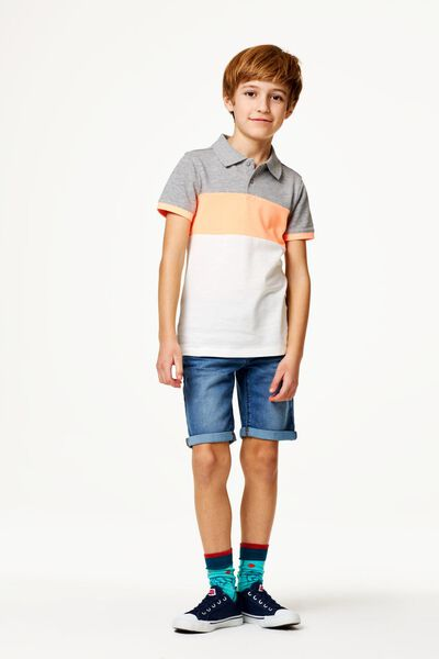 Kinder-Jeansshorts mittelblau mittelblau - 1000023239 - HEMA