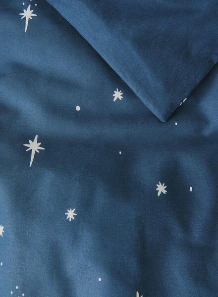 housse de couette-coton doux-140x200cm-bleu étoiles Grey 140 x 200 - 5710038 - HEMA