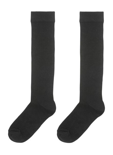 2er-Pack Damen-Kniestrümpfe schwarz schwarz - 1000001710 - HEMA