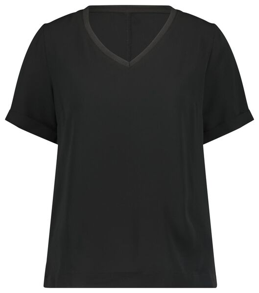 dames top recycled zwart zwart - 1000022994 - HEMA