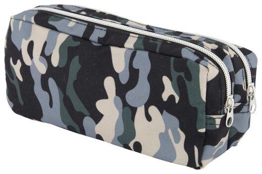trousse à double zip camouflage - 14502268 - HEMA