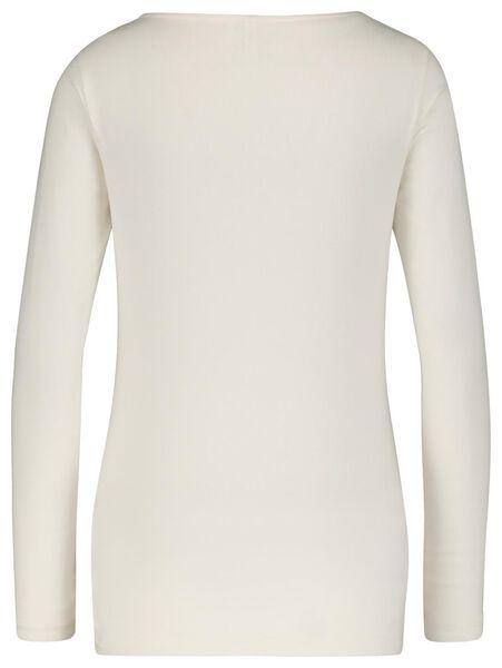 Damen-Shirt, U-Boot-Ausschnitt eierschalenfarben S - 36359857 - HEMA