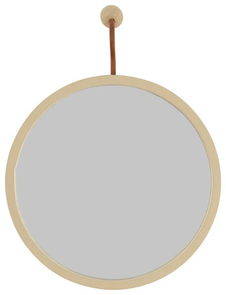 miroir Ø17cm - bois - 13222059 - HEMA