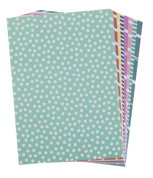 coloured patterned paper - 15970200 - hema