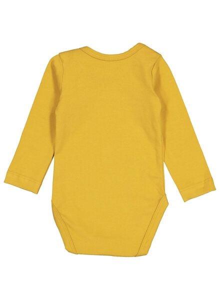 body biologisch katoen stretch geel geel - 1000015308 - HEMA