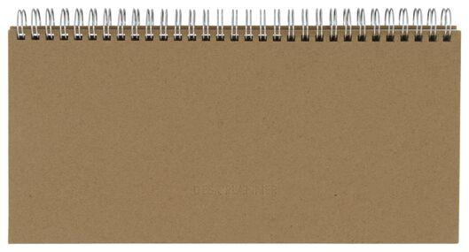 Tischkalender, Spiralbindung, 13 x 27 cm, braune Pappe - 14540911 - HEMA