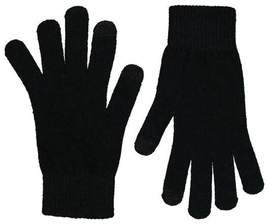 women's gloves touch screen black black - 1000020317 - hema