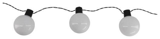 Lichterkette, 10 LED-Weihnachtsbaumkugeln mit Farbwechsel, 6.89 m - 25530324 - HEMA