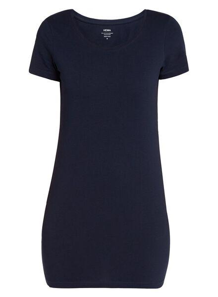 t-shirt femme - coton biologique bleu foncé bleu foncé - 1000004874 - HEMA